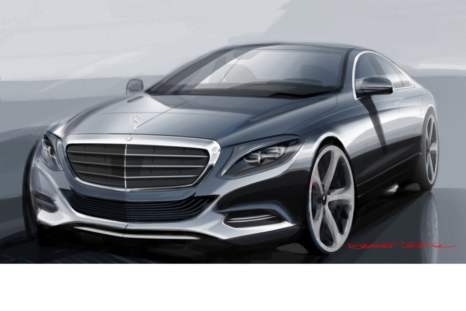 2014 Mercedes Benz S-Class Sketch - SMADE MEDIA (1)
