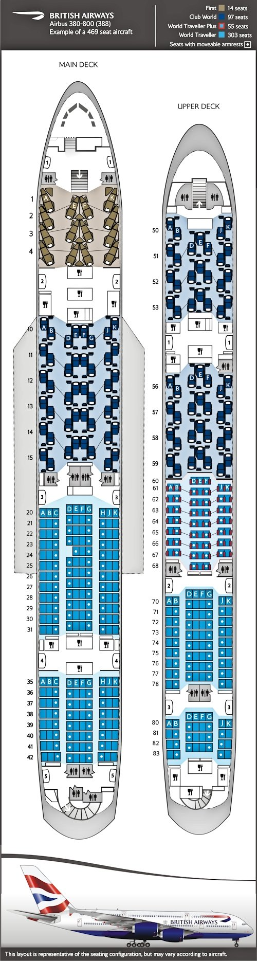 BA A380 SEATING