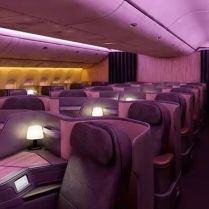 Business Class Cabin on Board China Eastern Airlines Boeing 777-300ER