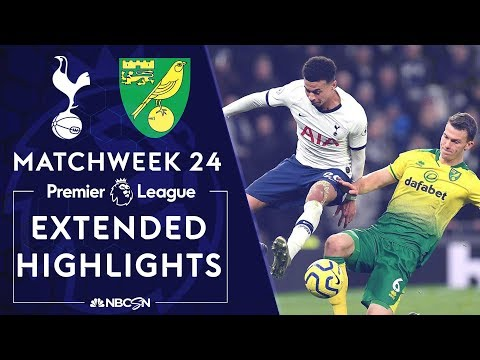 Tottenham Hotspur v. Norwich City | PREMIER LEAGUE HIGHLIGHTS | 1/22/2020 | NBC Sports