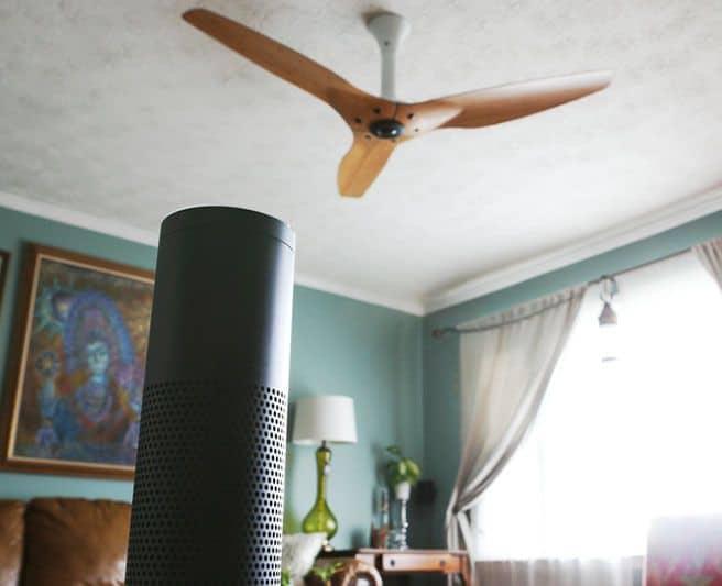 Amazon Echo with Haiku fan