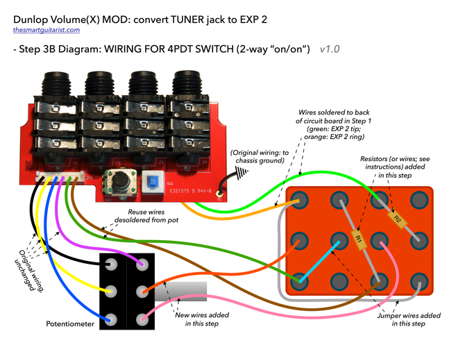 Fine Wiring Wizard Tiny Bulldog Security Wiring Square One Humbucker One Volume Wiring Www Bulldog Com Youthful Gibson 3 Way Switch Brown3 Humbuckers Dunlop DVP3 Volume (X) Mod: Convert Tuner Jack To 2nd Expression ..
