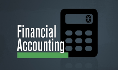 logo of financial accounting with a calculator