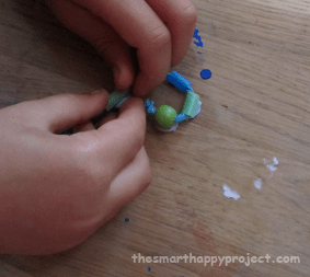 making a golden spiral from straws