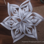 craft paper snowflake decoration