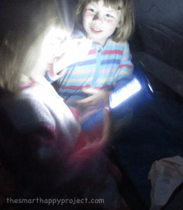 camping by torchlight