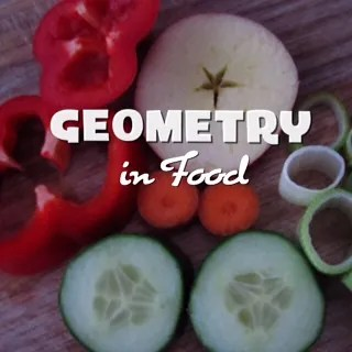 simple geometry in fruit and vegetables