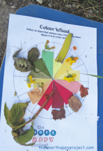 colour collection nature scavenger hunts