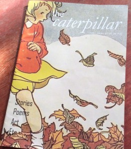 shared reading of The Caterpillar magazine