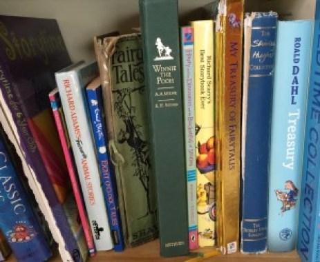 shared reading bookshelf