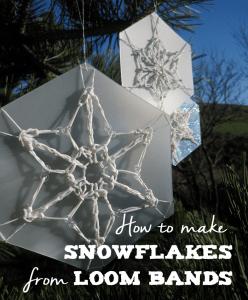 loom band snowflakes