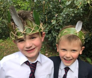 how to make nature crowns for boys