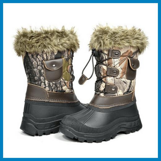 Dream Pairs Boys & Girls KSNOW Insulated Waterproof Snow Boots