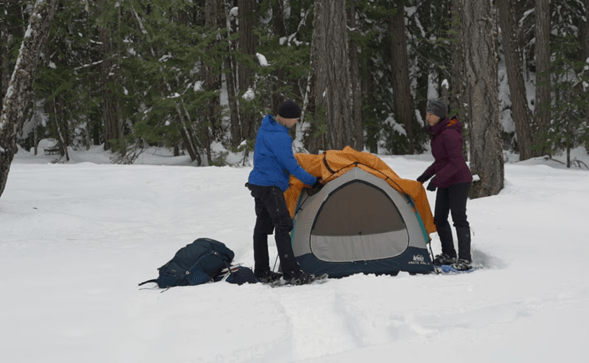 How to camp in winter