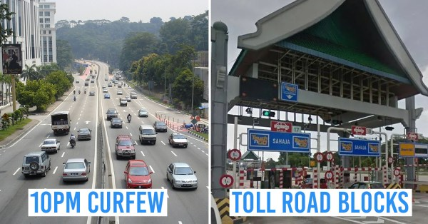 MCO Phase 2 In M'sia: Shops To Close By 8PM, Only 1 Person Per Car & More Roadblocks Nationwide