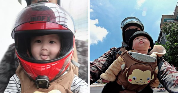 GrabFood Rider Brings Baby Along On His Deliveries, Has Youtube Channel For Their Adventures