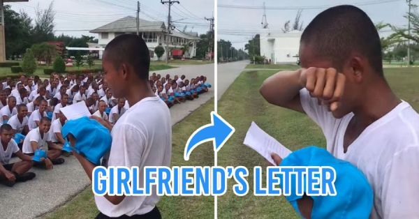 Police Cadet Cries After Receiving Letter From Girlfriend, Melts Fellow Campmates' Hearts
