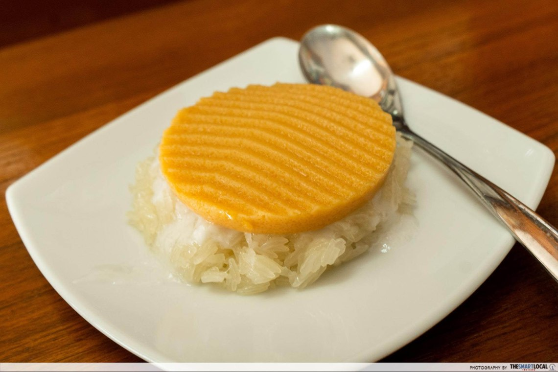 Sticky rice with custard