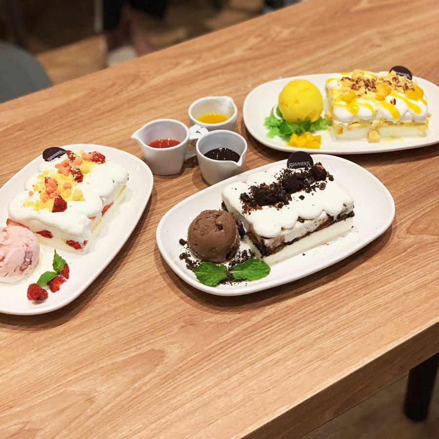 swensens bingsu cakes