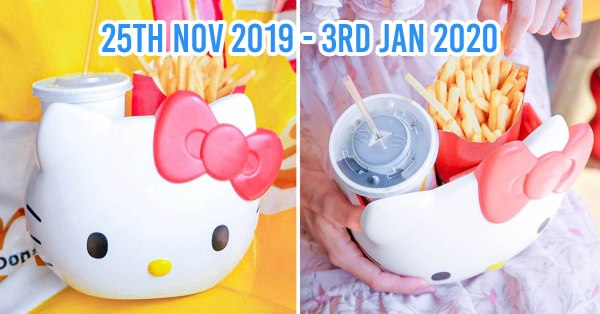 McDonald's Thailand Now Has Hello Kitty Carriers You Can Use As A Cute Snack Bucket