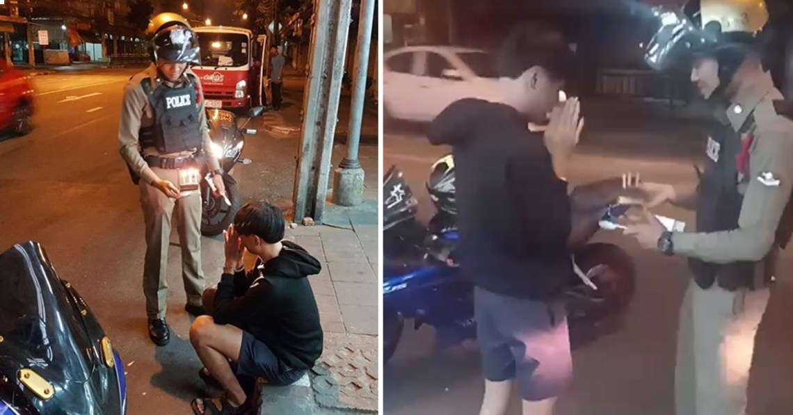 Kind police in Thailand