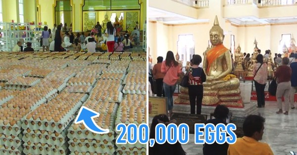 Chinese Devotees Offer 200K Eggs To Buddha Statue In Thailand To Get Rid Of Coronavirus