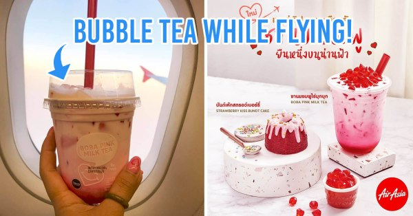 AirAsia Thailand Has A New Limited-Edition Pink Bubble Tea You Can Order Onboard