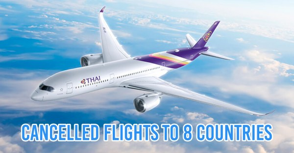Thai Airways Cancels International Flights In Asia Including Singapore & Japan Due To COVID-19 Crisis