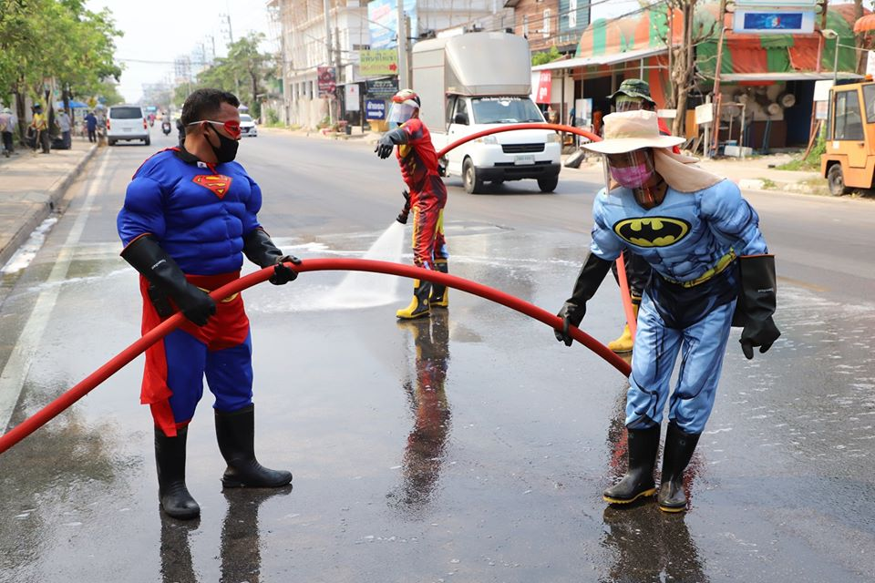 Superheroes Take Over Thailand's Streets to clean it during COVID-19