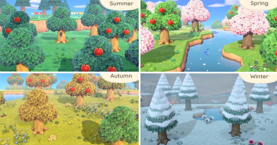 animal crossings new horizons seasons