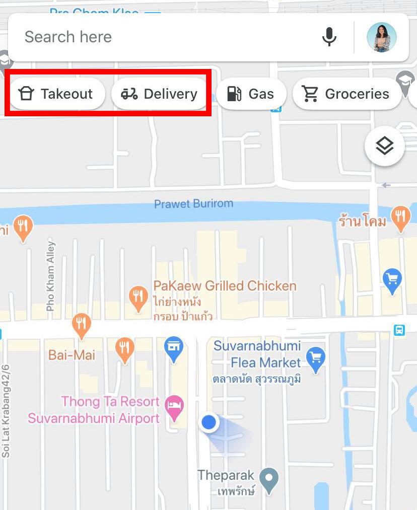 Google Maps supports local restaurants