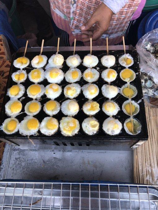 ThaiStreetFood quail eggs skewer