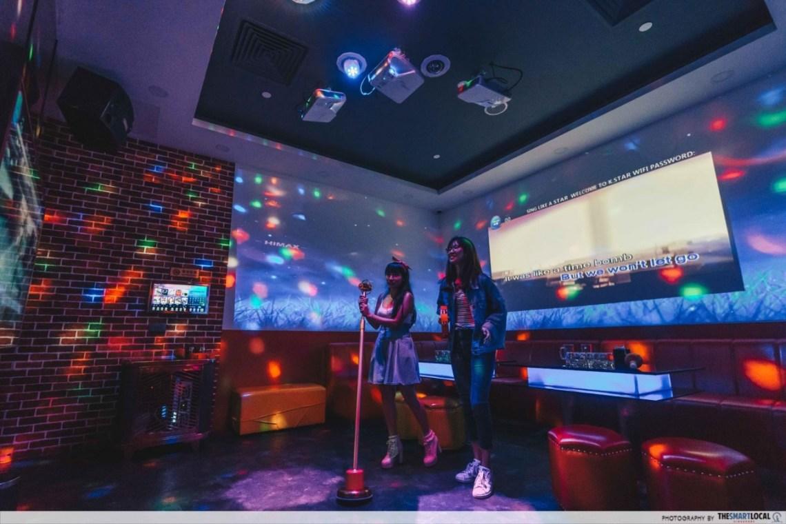 K*STAR Karaoke Singapore panorama room