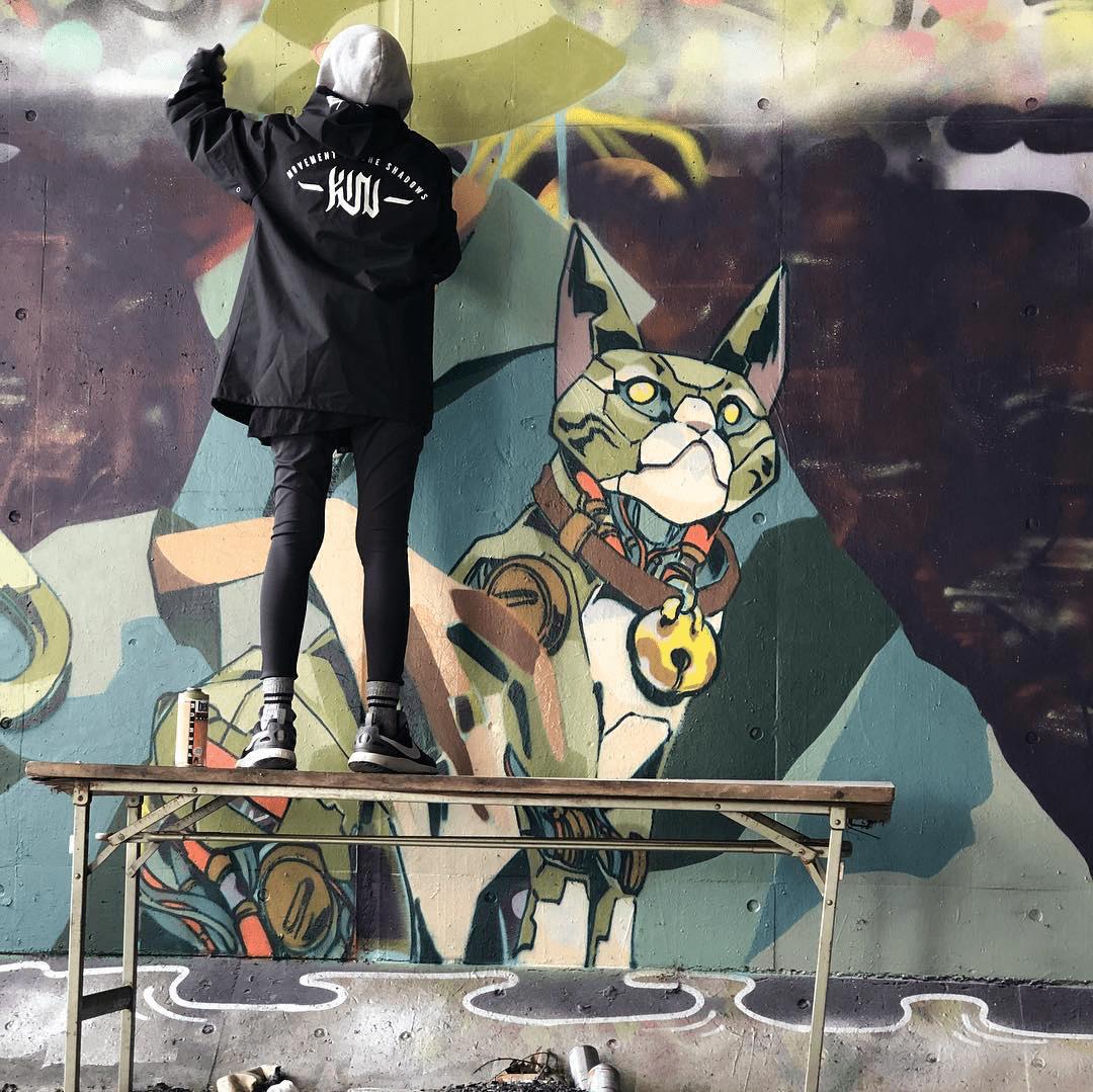 clogtwo graffiti painting