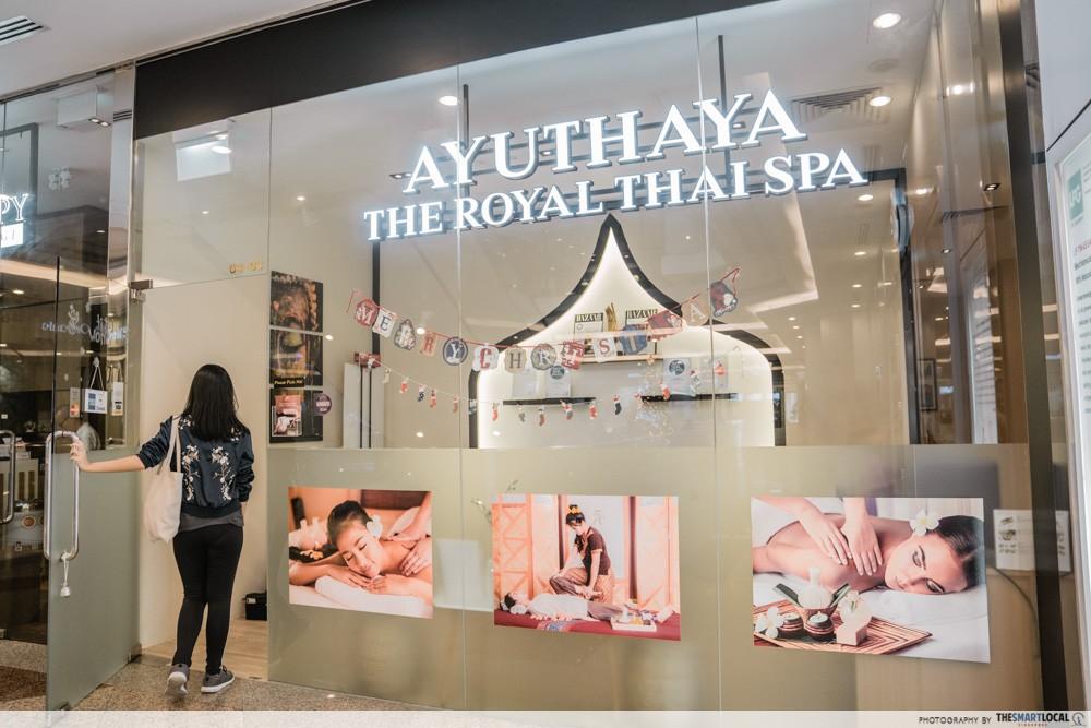 ayathuya thai spa store front