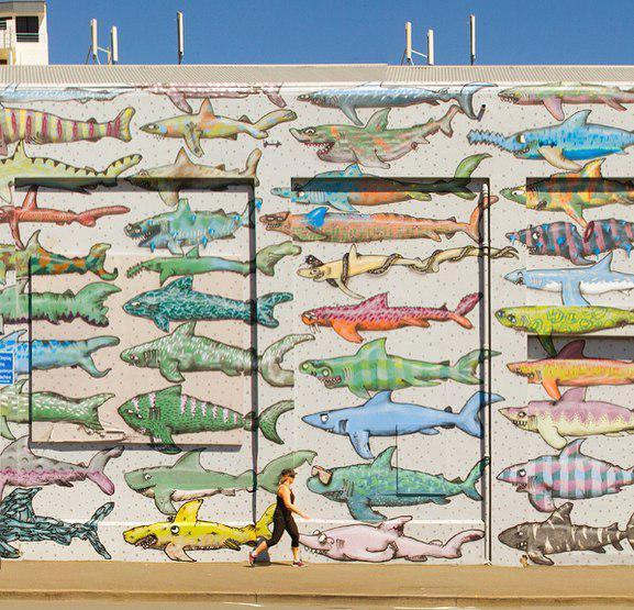 cable street shark wall