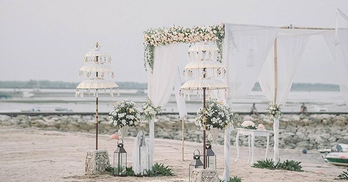 Sadara Resort beach wedding setup