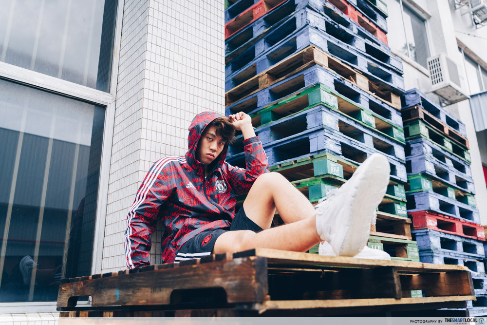 adidas nite jogger with shorts and hoodie