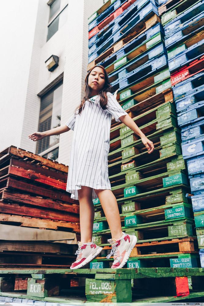 adidas tee shirt dress with nite jogger