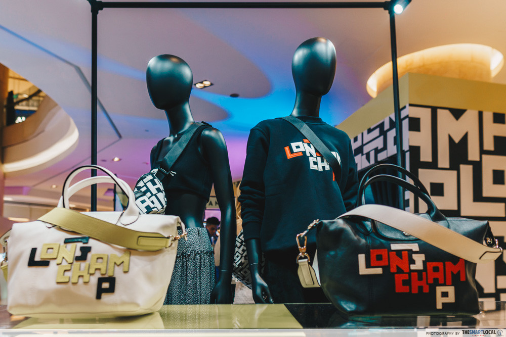 Outfits available at Longchamp's pop-up event