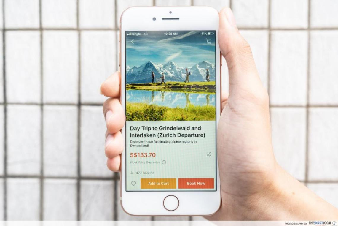 Klook Switzerland travel products