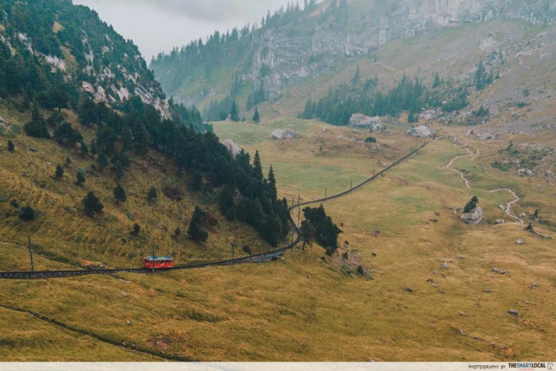 Mount Pilatus Cogwheel Train view