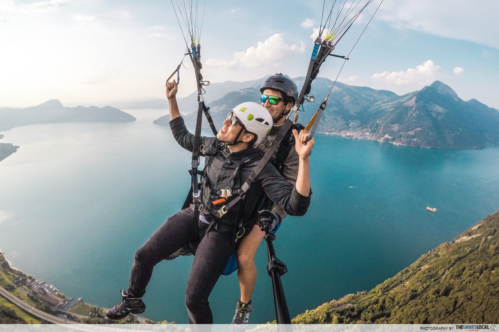 Roller coaster tricks while paragliding, Skyglide paragliding