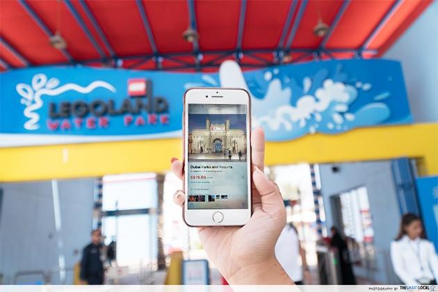 dubai parks and resorts entrance ticket phone