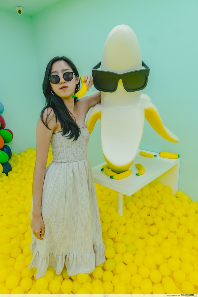 banana in sunglasses