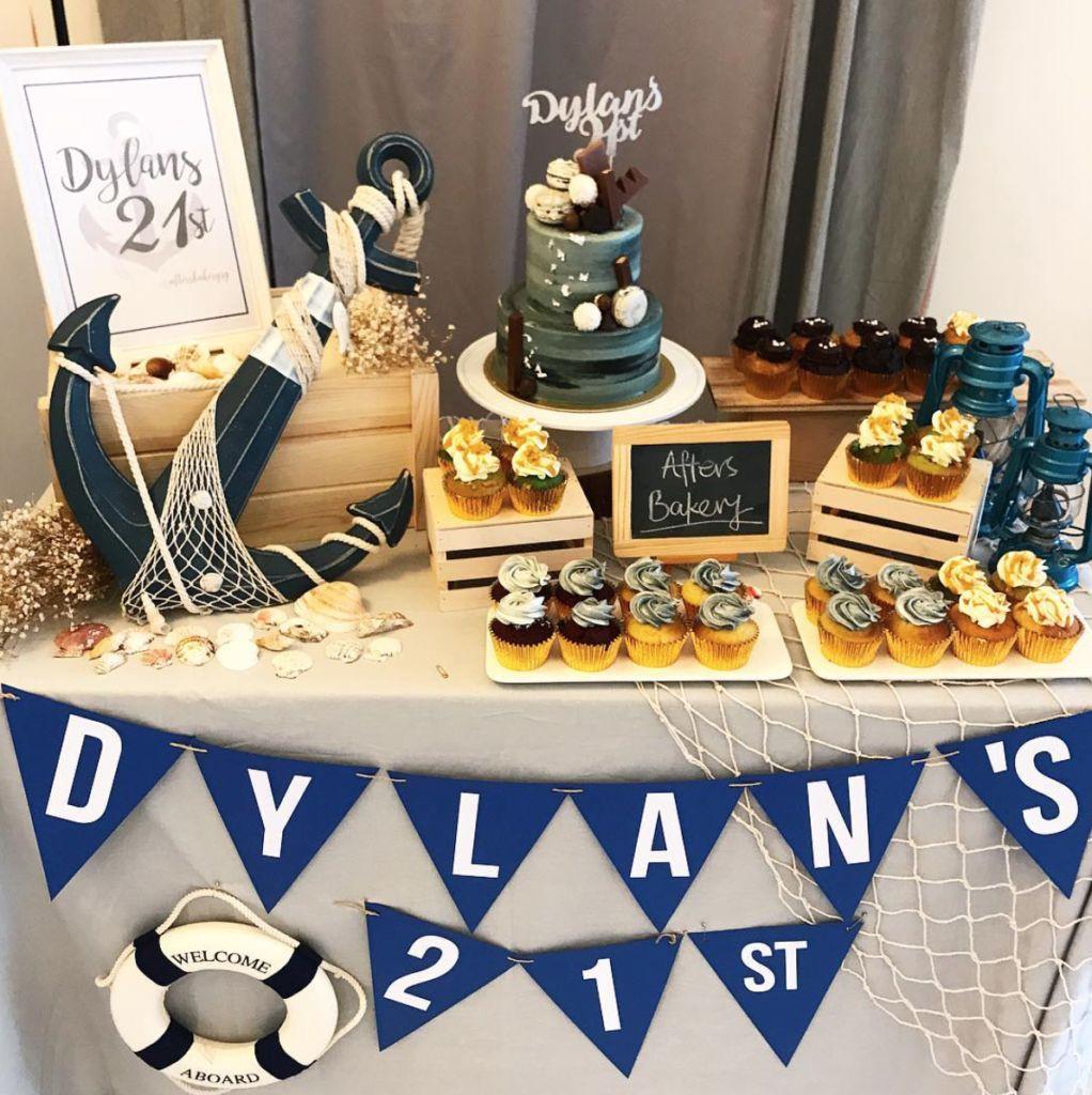 nautical sailor dessert table