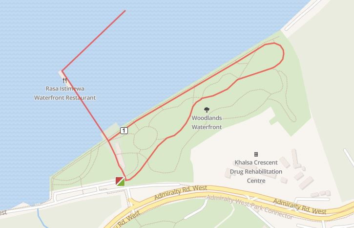 woodlands waterfront park running route map