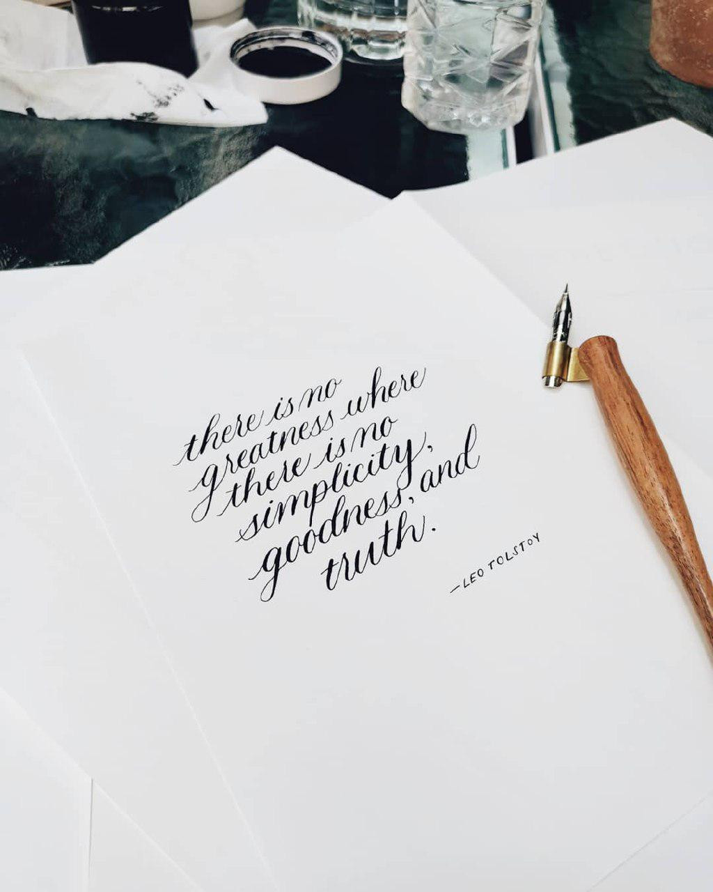 Modern Calligraphy workshop by The Letter J supply