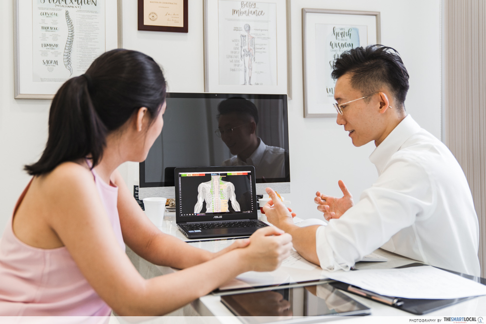 Macquarie Chiropractic Clinic Singapore Spinal Adjustment Thermographic Scan Analysis