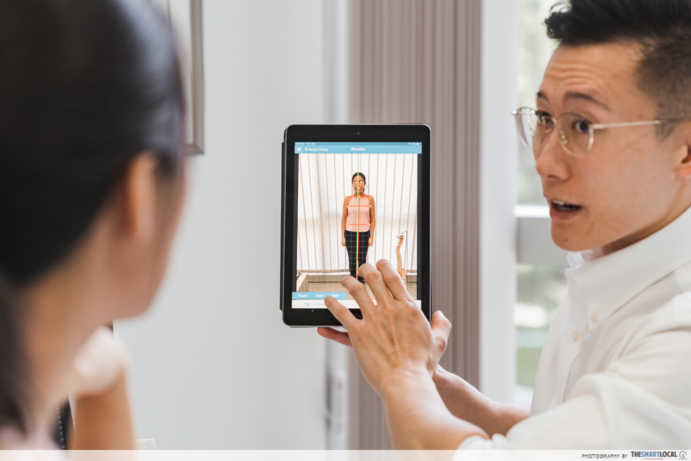 Macquarie Chiropractic Clinic Singapore Spinal Adjustment Digital Scan Postural Analysis